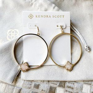 Kendra Scott Elberta Earrings Gold Rose Quartz